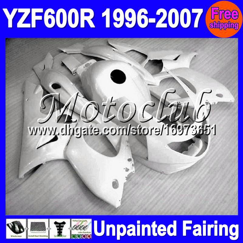 7gifts Unlackiertes Vollverkleidung Kit für YAMAHA YZF600R YZF 600R YZF600 R 1996 1997 1998 1999 2003 2004 2005 2006 2007 Verkleidung Karosserie Karosserie