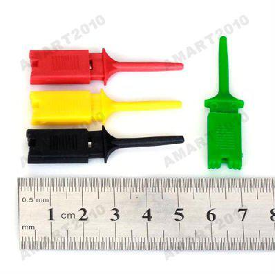 Safe Ship, New 10/lot IC SMD Test Hook Grabbers Probes Clip Cable DIY