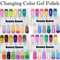 Actualizado! FAST Gel de color cambiante Chameleon Nail Gel Polish Soak Off UV Led Color Cambió la diferencia de temperatura Perfect Match MOOD Reacción