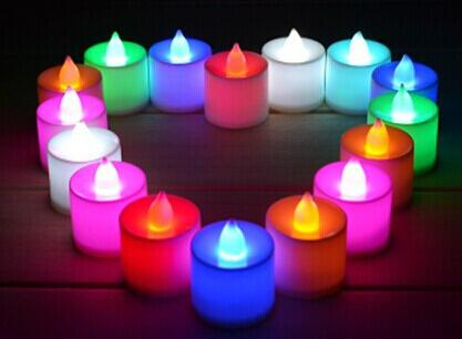 best selling LED wedding tealights electronic candle light party event flameless flickering battery candles plastic Home Décor colorful