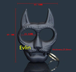 Wholesale Plastic Tiger Head Shaped sharp portable gear women's self-defense equipment Key Chain give your friend Xmas gift