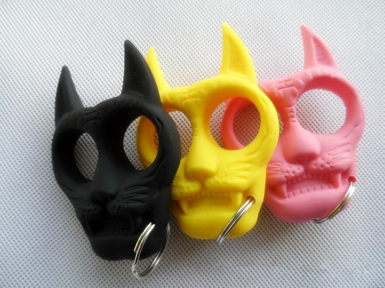 Plastikowa Kształcie Tiger Shaped Shapered Portable Gear Women's Self-Defense Slack Breloczek Daj swojemu przyjacielowi Xmas prezent