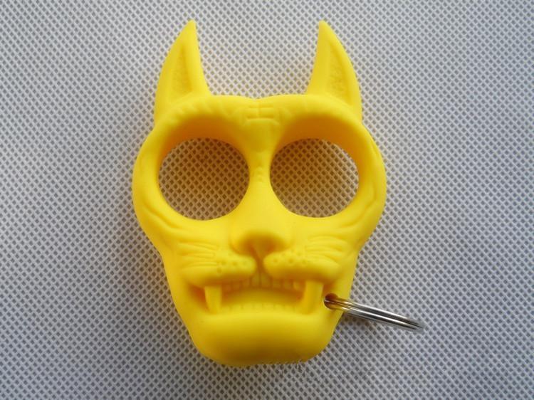 L'attrezzatura di auto-difesa delle donne portatili taglienti di plastica a forma di della testa della tigre di plastica di progettazione di modo dà al vostro amico il migliore regalo di Natale