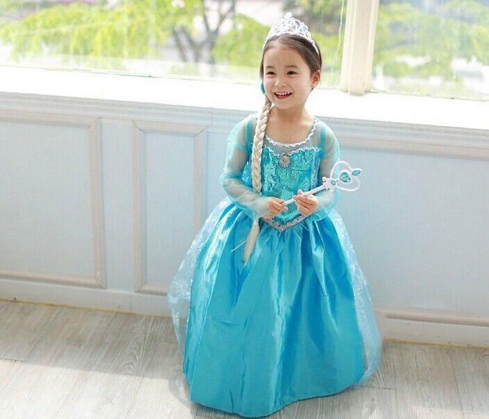 b848b52d1c Frozen Queen Elsa Princess Crown Hair Piece Wand Set Girl Kids Birthday Gift
