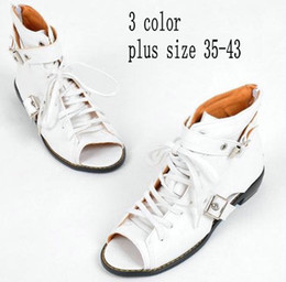 Wholesale Summer Fashions Wedges - Wholesale-Women Cool Boots NEW 2014 Fashion Gladiator Open Toe Shoes Cross Straps Flat Heel Sandals For Women Summer Boots Plus Size Shoes