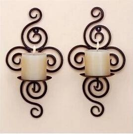 Iron Crafts Home Decor Wedding Decoration Candle Holders Wall Mounted Candle Stand Wall Decor Brief Design Wall Deocration Glass Votive Candle Holders