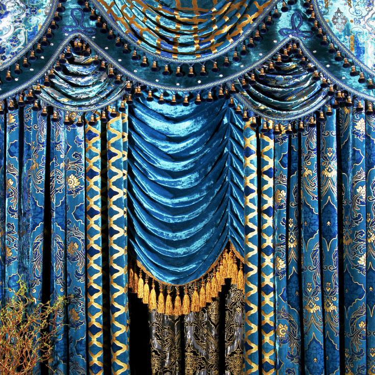 2017 The Blind Fashion Living Room Curtain Peacock Blue Flannelet Bronzier  Curtain The Finished Curtain Blinds Bead Velvet Curtains From Speed001, ...