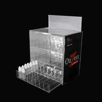 Wholesale ecig bottles - Three layers Acrylic e cig display high quality clear show shelf holder rack for ecig 10ml 20ml 30ml 50ml e liquid bottle needle bottle DHL