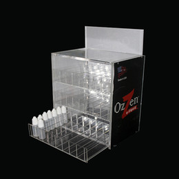 E cig liquid holdEr online shopping - Three layers Acrylic e cig display high quality clear show shelf holder rack for ecig ml ml ml ml e liquid bottle needle bottle DHL