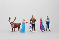 Wholesale Romance Box - Frozen Olaf Plush Toys Snow Adventures Snow Queen Forzen Romance doll ornaments hand to do 6 model playsets with box