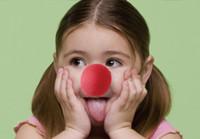 bolas de espuma mágica al por mayor-Espuma ROJA Circo Payaso Nariz Fiesta Esponja Bola Payaso Rojo Nariz Mágica para Halloween Masquerade Ball suministros Esponja Comic Fiesta Navidad M10
