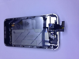Wholesale Iphone Silver Bezel Frame - DHL Freeshipping New middle frame full parts assembly bezel housing middle frame chassis for iPhone 4S Silver Have the test and screen