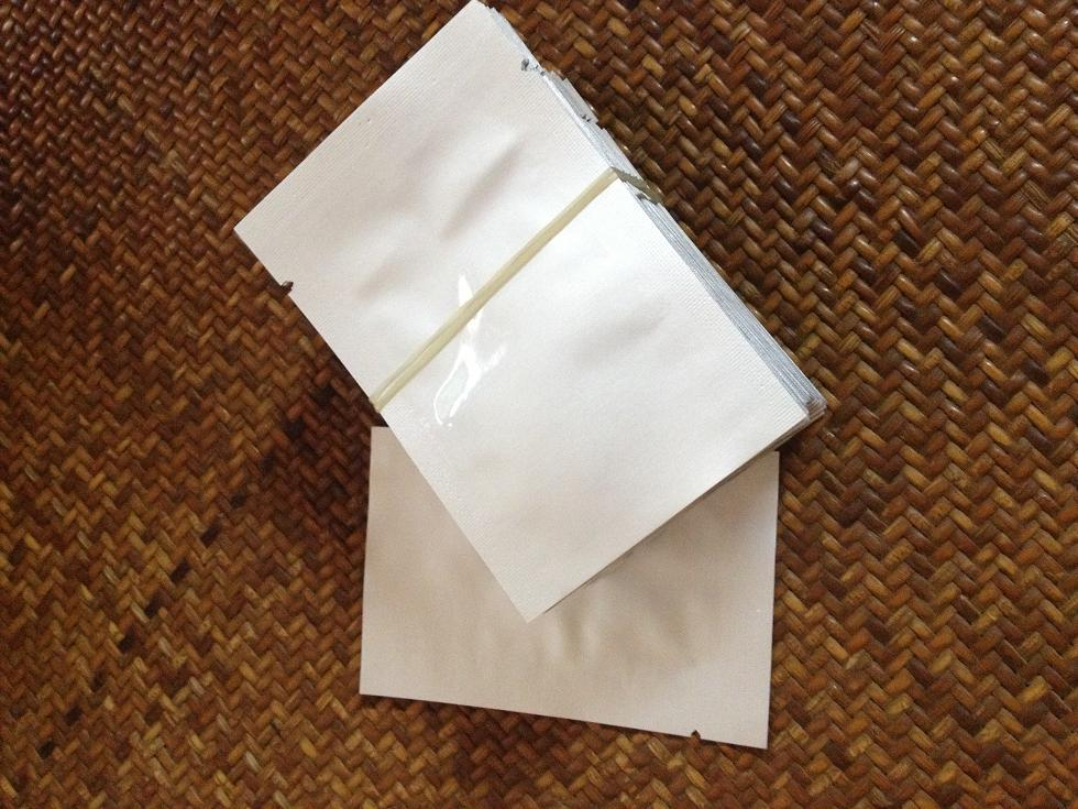 Il trasporto libero 100 pz / lotto 5 * 7 cm sacchetto di alluminio puro sacchetto sottovuoto sacchetti di imballaggio del caffè calore termosaldato medicina accessori materiale packer