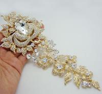 flores broche de perlas de boda rhinestone al por mayor-Al por mayor - 8.11
