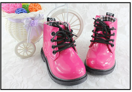 Wholesale Tie Up Leather Boots - Wholesale-Retail-Martin boot boy girl Autumn boots British children leather shoes children's boots