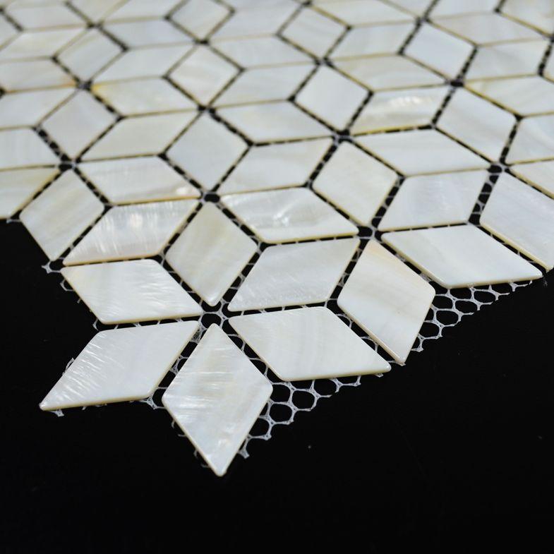 gro handel diamant perlmutt fliesen wei e mosaik fliesen backsplash raute k che bad shell decor. Black Bedroom Furniture Sets. Home Design Ideas