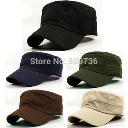 Wholesale Vintage Cadet Hats - 1PC Classic Women Men Snapback Caps Vintage Army Hat Cadet Military Patrol Cap Adjustable Outdoors Baseball Unisex Hats New 2014
