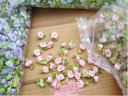 Wholesale Diy Small Flowers Ribbon - Wholesale-800pcs lot Handmade DIY material doll ribbon flower decoration small accessories bag candy box packing gift accessories material
