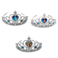 Wholesale Silver Queen Crown - 2014 Fashion Tiaras Frozen Elsa Girl Accessory Princess Party Hair Accessories Glitter Queen Girls Crown Dress Decoration Silvery(1704001)