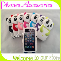 Wholesale Smartphone Case Cover Silicone - iphone 6 Silicone Case Cute Cartoon Panda Soft Case for iphone 6 Newest style Smartphone Covers 10 Colors With OPP Package 20PCS Per Lot
