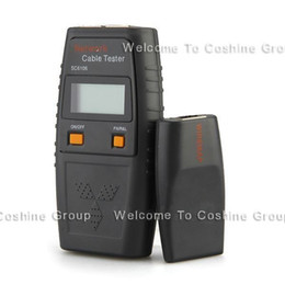 Wholesale Lcd Rj45 Cable Tester - Free Shipping!SC6106 RJ45 Network LAN Telephone Cable BNC UTP FTP Tester Measure W  LCD Screen