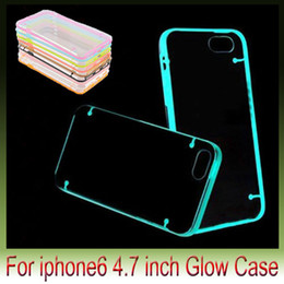 Wholesale Iphone Bumper Glow - glow for iPhone6 5STransparent Crystal Clear Soft Plastic Back Cover Case with TPU Frame Bumper for iphone 6 plus 4.7 5.5