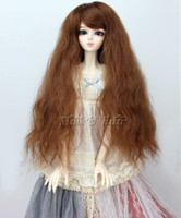 "Wholesale Bjd Wig Brown - 1 3 bjd sd doll 8-9"" inches long curly brown color wig super dollfie B042"