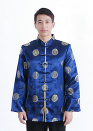 chinese jacket kung fu Canada - Free Shipping ! Fashion Chinese Style jacket chinese traditional clothes Men's Cotton Kung-Fu Embroider chinese Jacket Coat M L XL XXL M400X