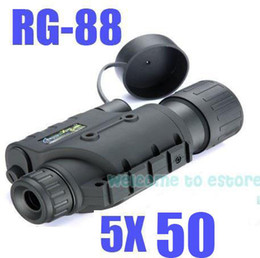 Wholesale Ir Night Vision Telescope - Free Shipping!!Brand Gen1eXact BE-88 Night Vision IR Monocular Binoculars Telescopes 5X50