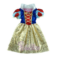Wholesale Girls Pageant Costumes - Fashion Girls Kids Dress Fairytale Princess Snow White Costume Show Formal Party Pageant Dress Skirt Birthday Gift Fit 2-7Y 100-140cm GD11