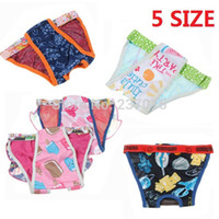 Wholesale Panty Harness - Wholesale-Free Shipping Female Pet Dog Puppy Sanitary Cute Pant Short Panty Elastic Diaper Underwear Colorful