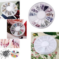 2mm bianco madreperla Nail Art pietra rotonda ruota strass perline 3D DIY Nail Art bellezza Accessori strumenti