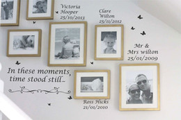 Wholesale Live Quote - Personalised In These Moments,Time Stood Still Wall Quotes Stickers Wall Decals Home Decor