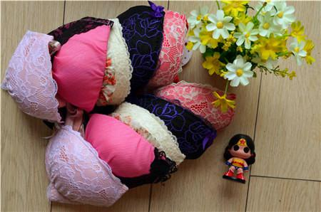 Ropa interior de encaje conjuntos de sujetador de mujer empuja hacia arriba la señora sexy moda femenina sujetador floral de primavera rosa rosa Doc más barato al por mayor envío gratis caliente ZB10