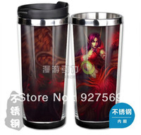 Wholesale Lol Coffee Cup - Wholesale-Game loL Blackthorn Morgana Stainless Steel Coffee Cup Mugs Water Cup Free Shipping