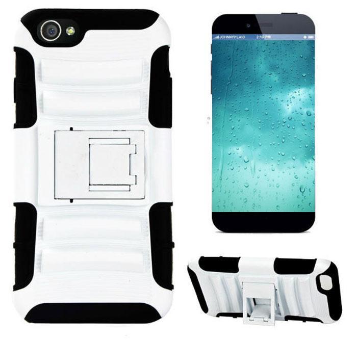 3 w 1 Robot Hybrid Armor Case Holder Heavy Duty Przypadki do iPhone6 4.7