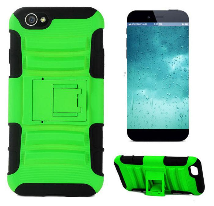 For iPhone 6 plus 4.7 5.5 inch Robot Double Layer Rubberized 3 in 1 TPU+PC Silicone Case Heavy Duty Cover Stand