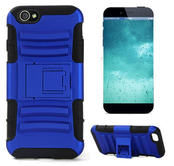 Für iPhone 6 Plus 4,7 5,5-Zoll-Roboter Double Layer gummierte 3 in 1 TPU + PC-Silikon-Kasten Heavy Duty Cover Ständer