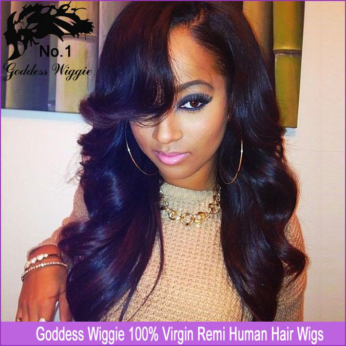 16 26 Inch U Part Wig Lace Front Wavy Human Hair U Part