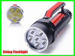 Wholesale Underwater Hunting - 100m Underwater Diving Flashlight 9000Lm 6x CREE XM-L2 T6 LED Torch Light Waterproof Free Shipping