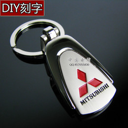 Wholesale Mitsubishi Lancer Key - Wholesale-Parallel-chord MITSUBISHI car the mark keychain key ring chain lancer outlander pagerlo