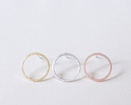 Wholesale Wholesale Earring Stud Backings - 10pcs lot Fashion jewelry new wholesale Gold Silver Pink Gold Open Circle studs Earrings ED022