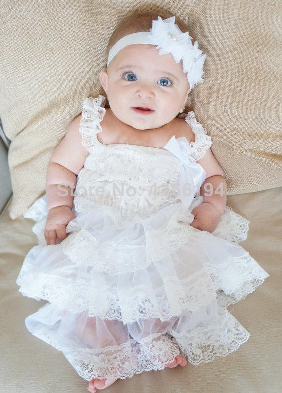 2017 2014 New Arrival White Lace Party Dress Infant Baby ...