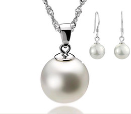 Wholesale Gray Crystal Silver Earrings - Orsa Jewels Wholesale Pearl Jewelry Set,925 Sterling Silver Material & 3 Layer Platinum Plated,Top Quality OS10