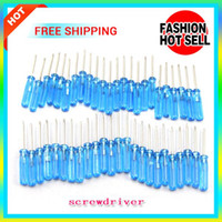 Wholesale Slotted Head - free shipping Mini Screwdriver Cross Straight Screw driver flat head phillips screwdriver hand tool For E Cigarette RDA Atomizer DNA 30 Mod