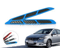 car air flow Australia - Free shipping & Tracking # Car Side Air Vent Fender Cover Intake Duct Flow Decoration Sticker Chrome White Blue Red - CA01395