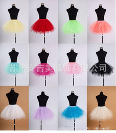Wholesale Ivory Colour Wedding Gowns - In Stock Real Image Simple Fashion Different Colours Ball Gown A Line Bridal Accessories Wedding Petticoats