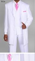 Wholesale Men S Wool Suits Blue - new Men's Suits & Blazers Men's Unique Designed Zoot Suit 3 Piece With Matching Vest Style custom