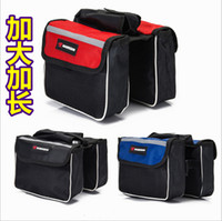 Wholesale Mobile Road - Bicycle Road Mountain Bike Cycling Sport Frame Front Tube Double Sides Saddle Bag Package Mobile Phone Key Case Pack Pouch