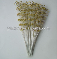 Wedding spray wire - Gold cm Handmade Pearl Spray Plastic Beads With Wire Stems For Wedding Decoration